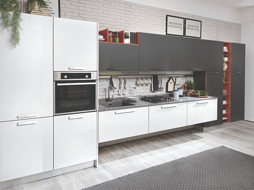 TABLET  Linear kitchen By CREO Kitchens
