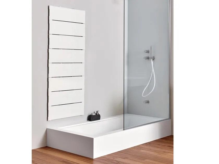 Vasca da bagno in Corian con doccia da incasso UNICO  Vasca da bagno in Corian  Rexa Design
