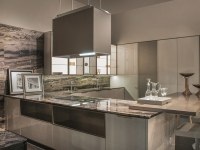 Lacquered wood-bronze fitted kitchen VILLA ADA By FENDI CUCINE