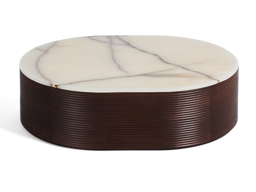 waves oval coffee table waves