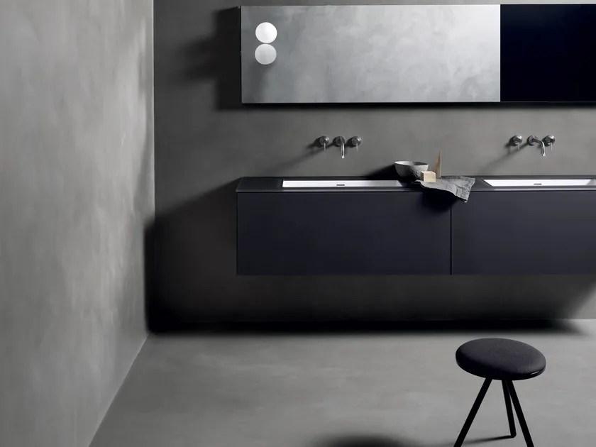 Pavimento continuo con texture in calce tadelakt CEMENTOCRUDO CC  Kerakoll Design House