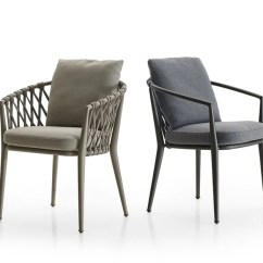 Outdoor Chair Fabric And Table Erica Collection By B Italia Design Antonio Upholstered Garden With Armrests
