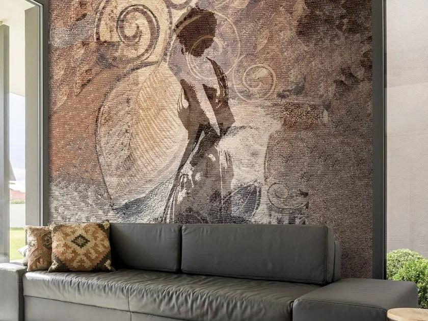 Simulazioni e riferimento per le reti che in una totale libertà di composizione. Motif Washable Wallpaper Donna Su Tessuto Luxury Collection By Carta Da Parati Artistica Design Claudia Farnedi