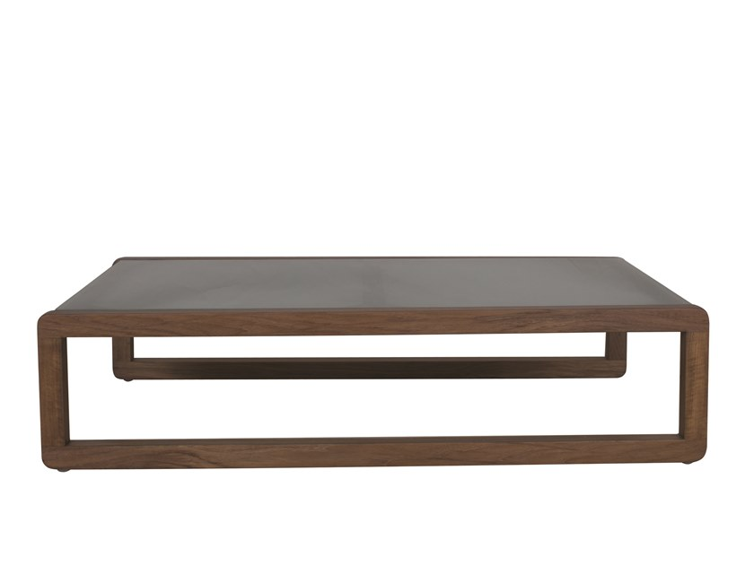 dual sled base coffee table dual