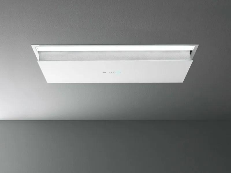 Cappa a soffitto in acciaio e vetro ECLISSE by Falmec