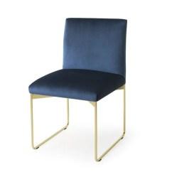 Velvet Chair Design Extra Large Cushions Gala By Calligaris Busetti Garuti Redaelli Sled Base