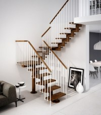 GAMMA | U-shaped Open staircase By RINTAL