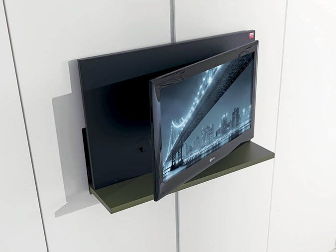 meuble tv pivotant escamotable ghost by