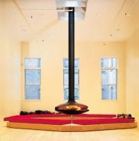 Open central hanging fireplace GYROFOCUS Gyrofocus ...