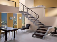 L-shaped self supporting beech Open staircase LOFT | L ...