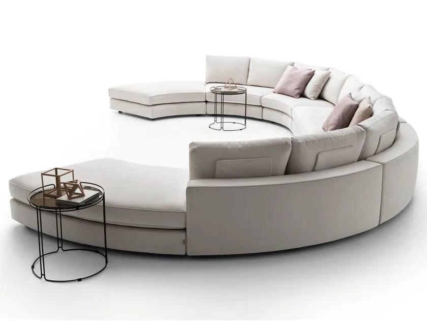 oval sofa cream swivel chair loman curved by ditre italia design stefano spessotto