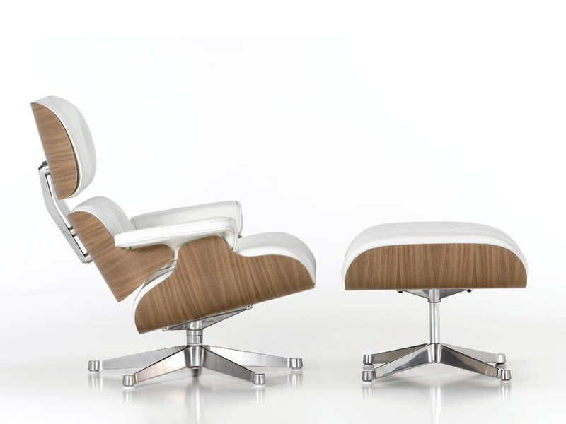 vitra lounge chair booster seat kitchen swivel leather armchair ottoman white version by