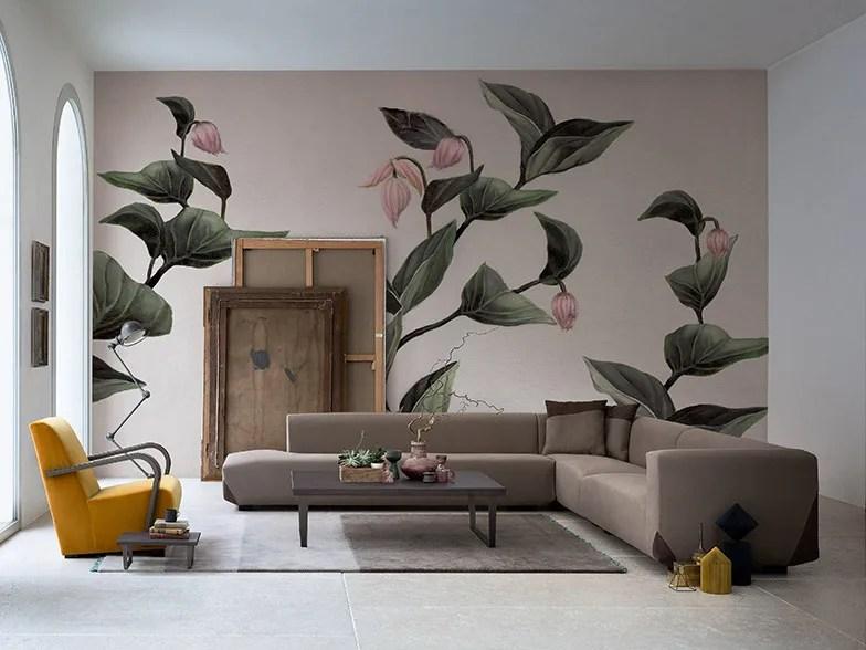 Quando io e baby abbiamo deciso di comprare casa. Panoramic Wallpaper With Floral Pattern Medinilla Collection 2016 2017 Collection By Inkiostro Bianco Design Studio Zero