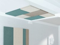 Felt acoustic ceiling clouds MODUS | Acoustic ceiling ...