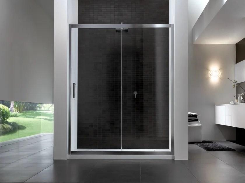 Box doccia rettangolare in vetro con porta scorrevole QUADRO  Box doccia con porta scorrevole
