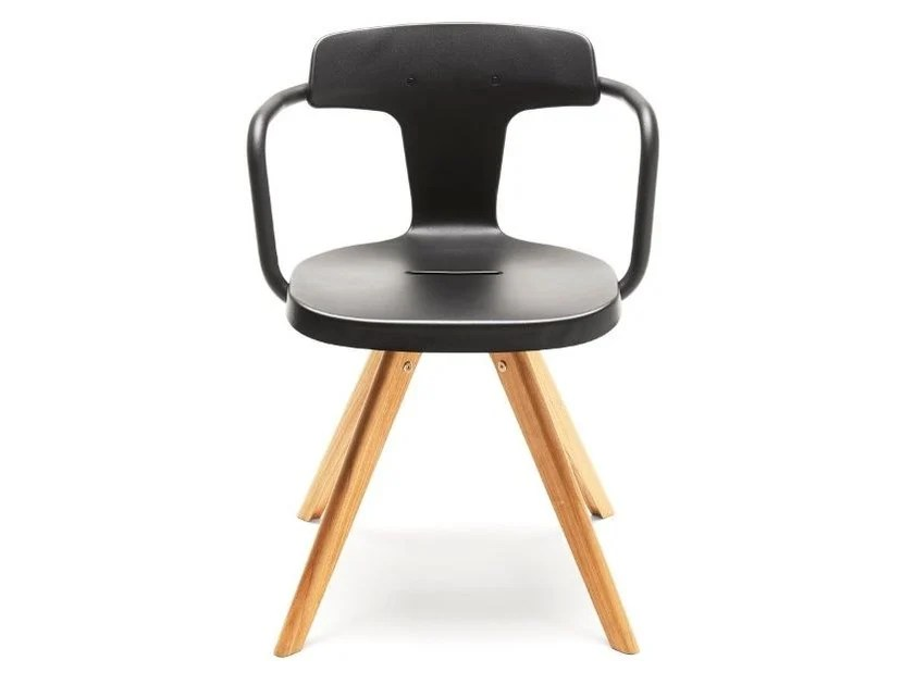 steel chair for office outdoor double rocking t14 wooden by tolix design patrick norguet stainless and wood