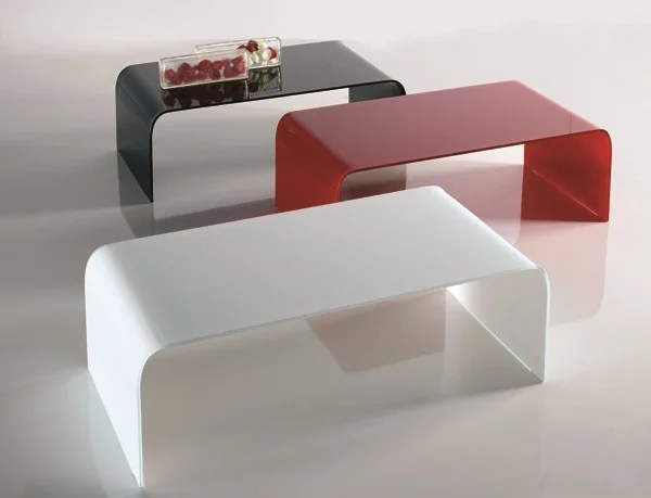 Tavolino basso in cristallo RANDA  Tavolino basso  RIFLESSI