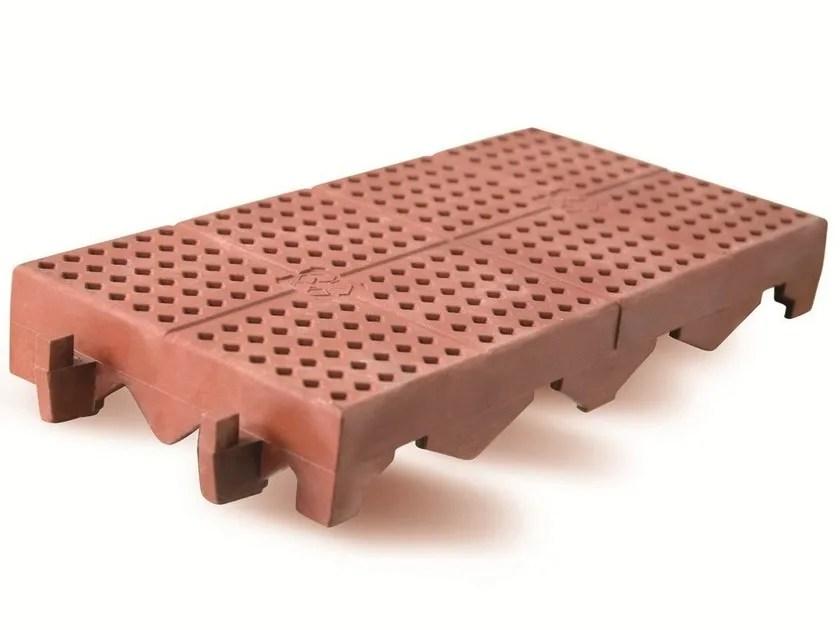 Pavimento per esterni in plastica effetto cotto PIASTRELLA  Ferracin Group