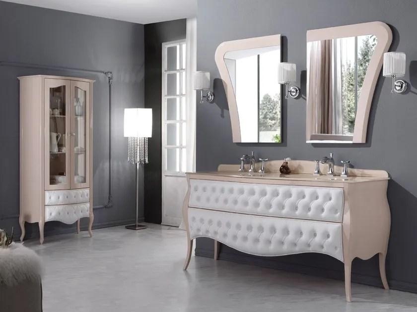 Mobile lavabo capitonn doppio con cassetti VANITY DUETTO