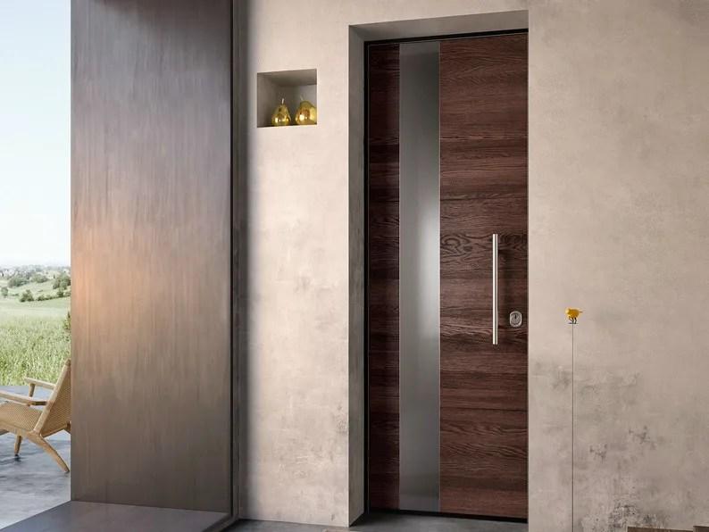 Porta dingresso blindata in acciaio e legno SOVRANA
