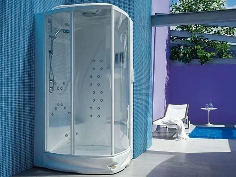 Box doccia multifunzione rettangolare con bagno turco