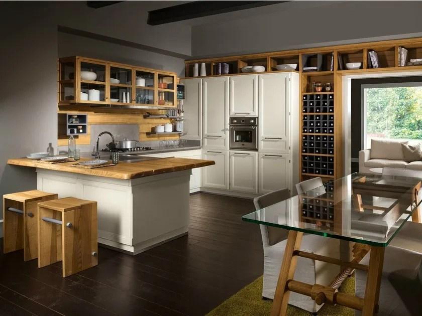Cucina componibile con penisola LIVING VERANDA  LOttocento