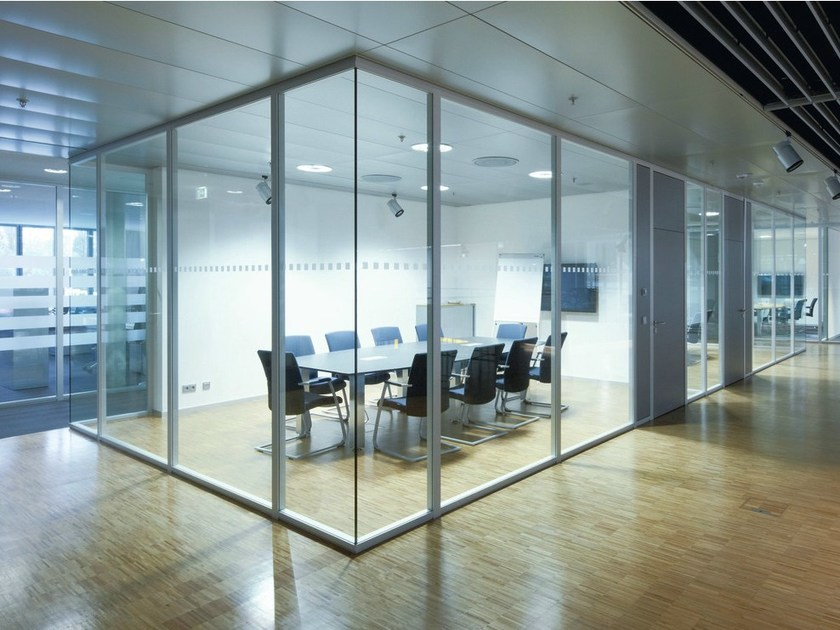 sliding glass office partition h68 by