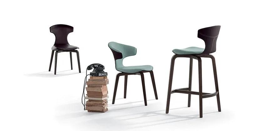 MONTERA  Counter stool By Poltrona Frau design Roberto Lazzeroni