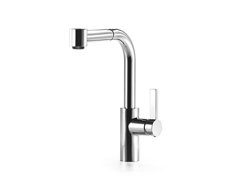 dornbracht faucet kitchen laminate floors in mixer tap with pull out spray elio by design