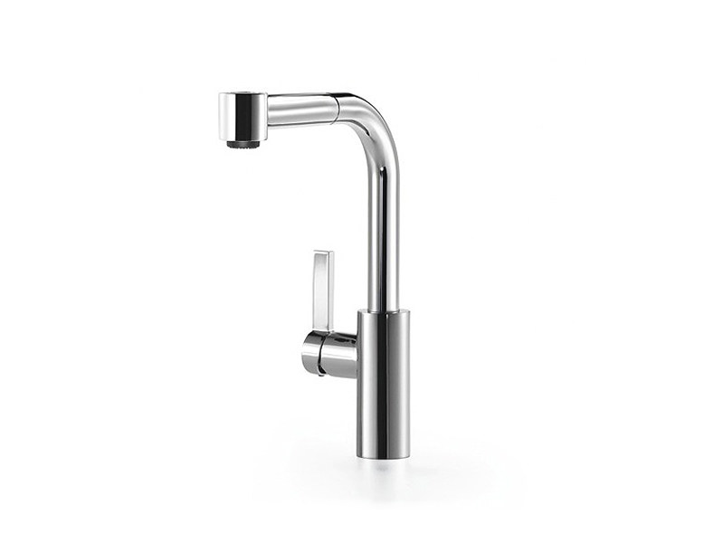 dornbracht faucet kitchen wall decor mixer tap with pull out spray elio by design