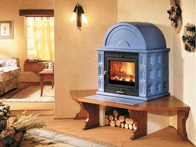 Stufa a legna con forno KAM  Piazzetta