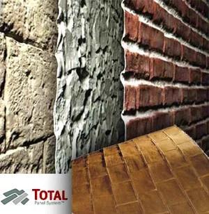 Rivestimento in vetroresina effetto mattone o pietra TOTAL Panel System  SpazioArreda
