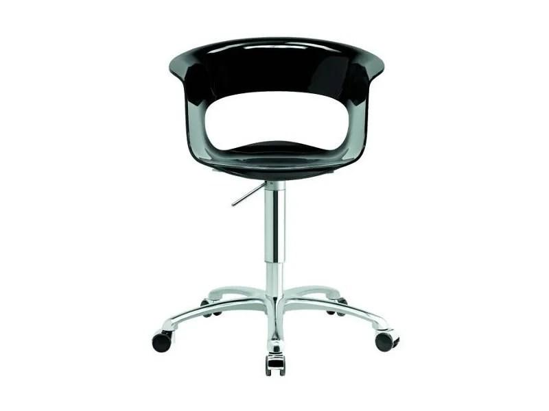chair revolving steel base with wheels serta lift warranty swivel task 5-spoke miss b office antishock by scab design luisa battaglia