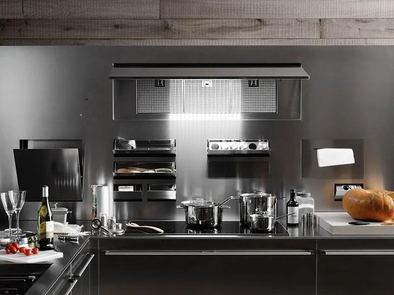 Cucina componibile in acciaio inox ARTEMATICA INOX  VALCUCINE