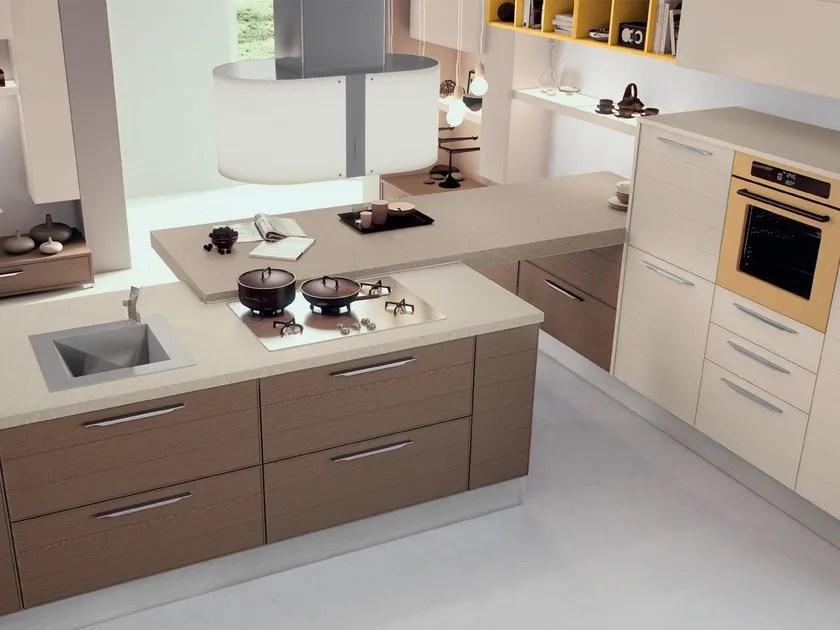 Cucina componibile laccata in legno ADELE PROJECT  Cucina in legno  Cucine Lube