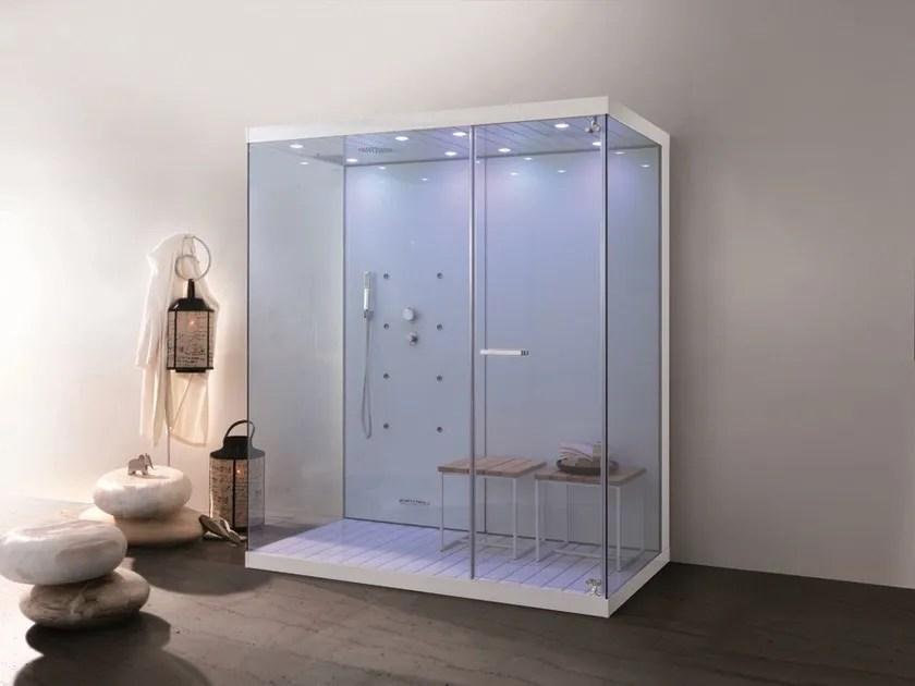 Box doccia multifunzione in alluminio e vetro WELLBOX  MEGIUS
