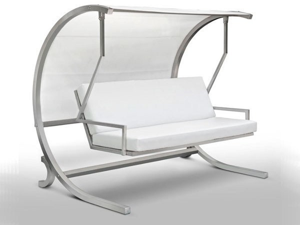 swing chair metal wedding covers stainless steel garden seat dondolo by cagis