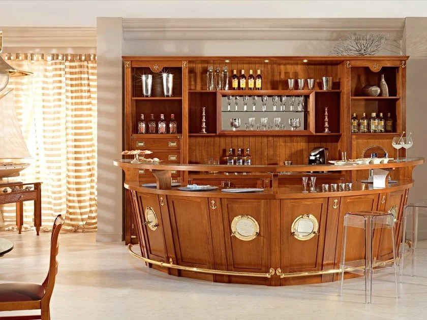 Mobile bar in legno massello BOLINA  Mobile bar in legno massello  Caroti