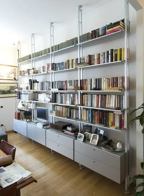 Scaffale bifacciale componibile in alluminio K2  Libreria
