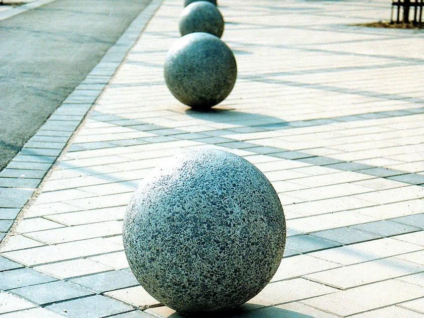 fixed concrete sphere bollard