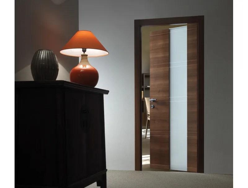 Porta a battente in legno e vetro INTAGLIO  10 VETRO by