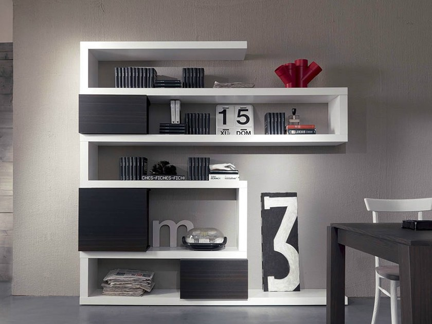 libreria a parete sospesa in acciaio verniciato a polvere. Wall Mounted Floating Bookcase Side 19 By Fimar