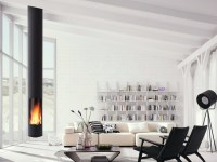 Wood-burning central hanging fireplace SLIMFOCUS Slimfocus ...