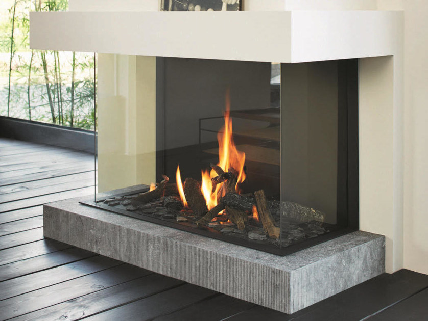 STV B100 H  3sided fireplace Tulp Collection By Stv