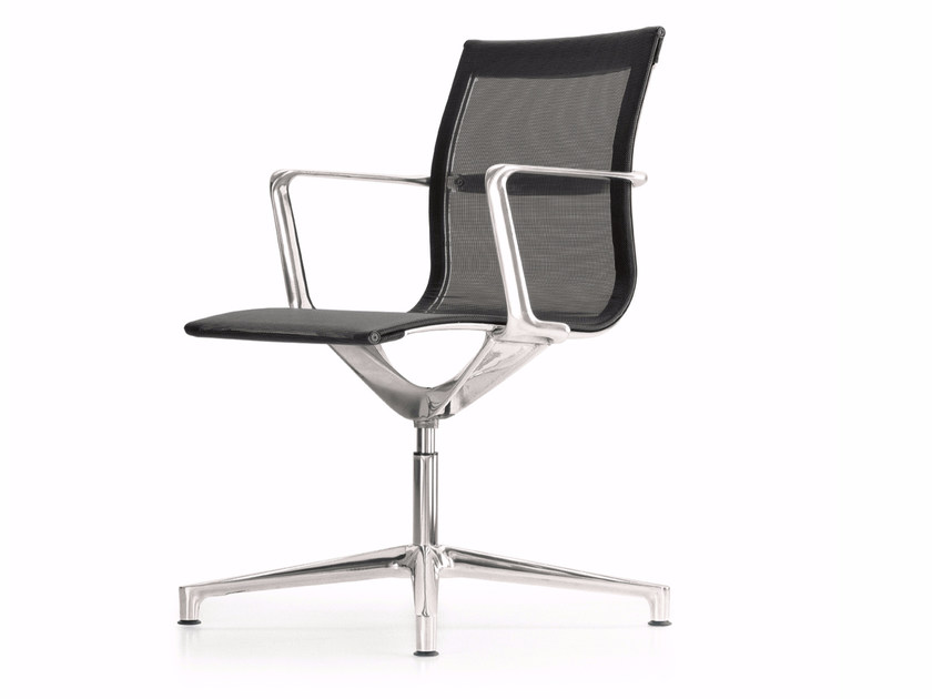 mesh task chair dining legs with 4 spoke base violle 150f collection by profim
