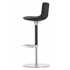 Chair Stool With Back Eames Time Life Replica Height Adjustable Polyurethane Foam Footrest Zeb By Vitra