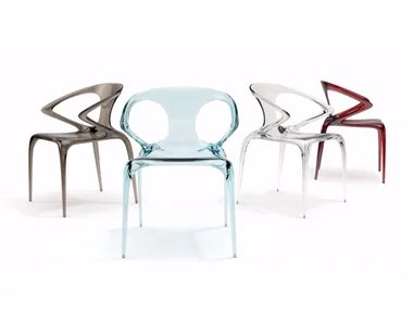 transparent polycarbonate chairs chair king austin pc archiproducts stackable with armrests ava