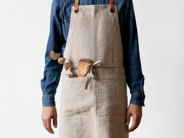 kitchen aprons chicago faucets linen archiproducts washed luxury apron natural