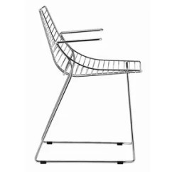 Steel Net Chair High Back Dining 396 By Metalmobil Design Francesco Geraci 097 Sled Base