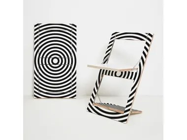 folding circle chairs diy wooden chair seat plywood archiproducts open back flapps op art